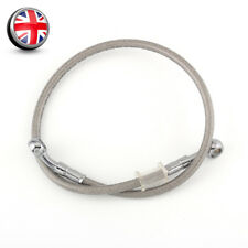 "23.62"" Motorcycle Brake Oil Hose Line Banjo Fitting Stainless Steel Braided UK A"