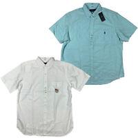 NWT Polo Ralph Lauren  Men's Oxford Button Down Short Sleeve Shirt Big & Tall