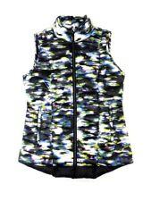Tangerine Women's Size Small Lightweight Active-Wear Vest, Black Print