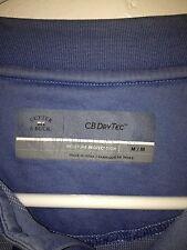 Cutter & Buck CB DryTec S/S Polo Golf Shirt Light Blue MEDIUM M Moisture