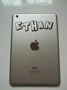 Personalised Name Sticker for Apple iPad Mini Crash Font Tablet Vinyl Decal