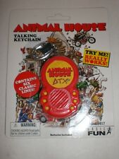 1 NEW ANIMAL HOUSE  TALKING KEYCHAIN SAYS 6 PHRASES  W/ REPLACEMENT BATTERIES