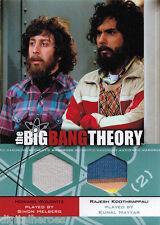 Big Bang Theory Season 3 & 4 DM-04 Dual Costume Wardrobe Card Howard & Raj