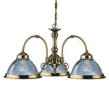 luce a sospensione vetro ottone lampadario inkl.led