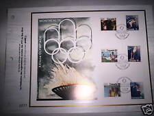 FICHE TIMBRES JEUX OLYMPIQUES MONTREAL 1976 RARE N°2077