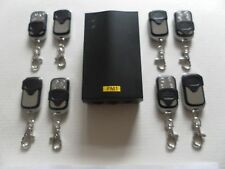 Remote control unit for roller garage door & shutters with eight hand sets