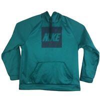 Mens 2XL Nike Dri-Fit Hoodie Sweatshirt Pullover Running Hooded Teal Green XXL