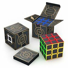 professional rubiks Speed Cube 3x3x3 Carbon Fiber Sticker  aGreatLife