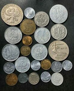 Vintage Poland Coin Lot - 1923-PRESENT - 24 Excellent Coins - Lot #J23