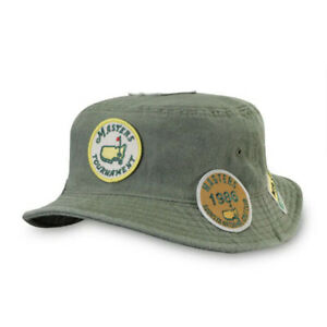 NWT Masters 2020 Augusta National Throwback Patch Bucket Hat Golf Green