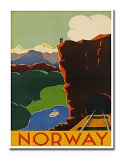 """Norway Travel Poster Art Decor Vintage Print 12x16"""" Nostalgia XR628"""