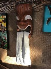 New Ku Towell Holder Tiki Mask Smokin' Tikis Hawaii 51417