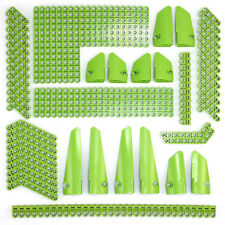 Lego Technic Bright Green Studless Beams Liftarms Panels Bricks 138 Parts - NEW