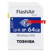 Toshiba 16GB 32GB 64GB Flashair W-04 Wi-Fi SD SDHC SDXC Wireless Card U3 AU
