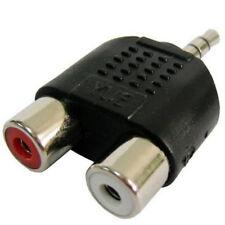 Adaptador Conversor de Audio Jack 3.5mm Macho a 2 RCA Hembra - Nuevo