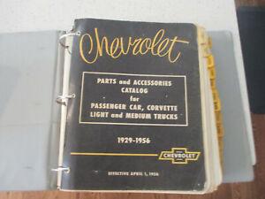 CHEVY CHEVROLET GM GENERAL MOTORS DEALER PARTS BOOK 1929-1956 CAR TRUCK CORVETTE