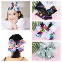 Nice Girls Big Bowknot Rope Satin Ribbon Bow Butterfly Hair Clip Mermaid Hairpin