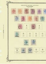 Orange River Colony used collection on four Scott specialty pagesstamps