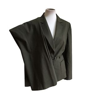 TAHARI Women 2 PC Polyester Viscose Blend Green Lined Belted Pant Suit Size 16