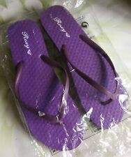 Purple Roxy (Quicksilver) Flip Flops Size 7/8 'New and Sealed'