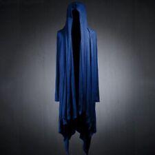 Men's Hooded Punk Cardigan Dark Cape Long Jacket Loose Cotton Blend Cloak Coat