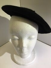Beret Black French Hat Fancy Dress Wool Blend Adult Size Costumes New