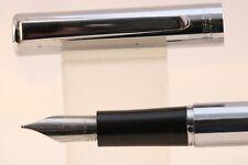 More details for vintage waterman torsade polished chrome fine fountain pen
