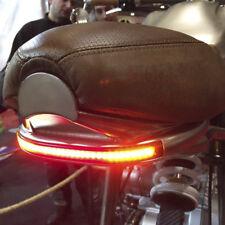 Motorcycle 12V Amber LED Tail Light Turn Signal Brake Running Flowing Strip Lamp