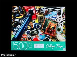 Jigsaw Puzzle 1500 Pc Collage Time Photography Theme Vintage Cameras 32 x 24