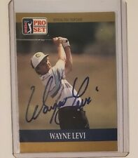 Wayne Levi Autographed 1990 Pro Set Golf Card PGA Tour