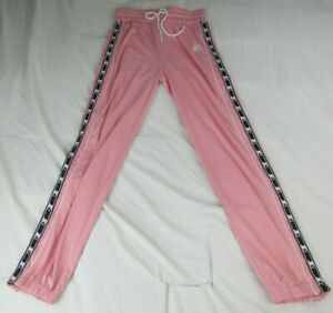 Starter Women's Pink/Black/White Button Down Jogger Pants