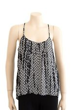 Witchery Black and White Geometric Top Preloved - Size 10