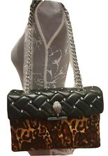 Kurt Geiger Kensington Leopard Leather Bag RRP £229 Quilted Studded