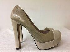 VINCE CAMUTO JORGIE Platform Pumps Heel shoes-Beige/gold- US 8B / EUR 38