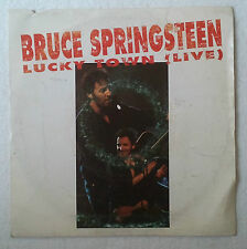 "Bruce Springsteen Lucky Town Single 7"" Spain promo label amarillo one-sided"