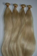 "I-Tip Extensions For Micro Links 22"" European Remy Human Hair 100 Strand #613"