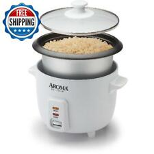 6 Cup Rice Cooker  Non-Stick Pot  3-Piece Measure Cup & Serving Cooking Kitchen