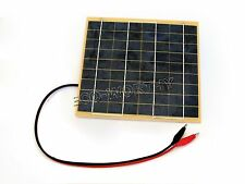 5W Solar Panel w/ Battery Clips for 12V Car Home Camping Boat Battery Charger