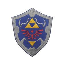 The Legend of Zelda Crest Shield Game Embroidered Hook Patch Badge Blue*1
