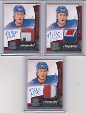2010-11 UD The Cup DEREK STEPAN Auto Patch Jersey 3C Rookie RC 196/249