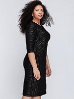 NEW LANE BRYANT Metallic Fitted Sheath silhouette Dress Plus 28 4X Crinkled NWT