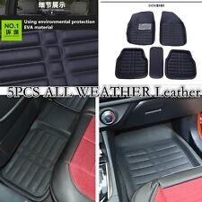 2 Front+2 Rear  +1 Cargo  All Weather Custom Heavy Duty Rubber Floor Mats 5 Pcs