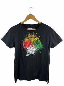 Airwalk Men's T Shirt Size L Black Short Sleeve Logo Casual Crew Neck Graphic