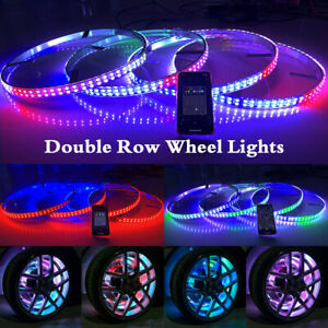 15.5'' Wheel Lights Chasing Color Brightest Double Row Bluetooth For Car & Truck