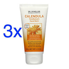 3x75ml Dr.Scheller CALENDULA Handbalsam +Ringelblume+Allantoin Handcreme