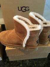 UGG Classic Mini Fluff High-Low Chestnut Size 7 Women's Boots 1103745 NEW W BOX