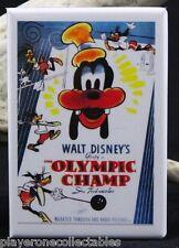 "The Olympic Champ Movie Poster - 2"" X 3"" Fridge Magnet. Goofy Walt Disney"