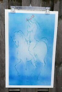 Laszlo Dus Lady Godiva Signed numbered Lithograph Horse