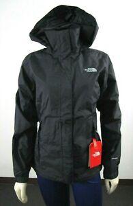 NWT Womens The North Face Resolve 2 Waterproof Dryvent Hooded Rain Jacket Black