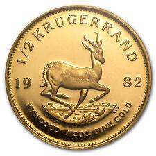 1982 südafrika 1/2 oz proof gold kruegerrand-sku #71477